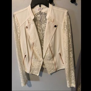 Candies lace sleeved blazer